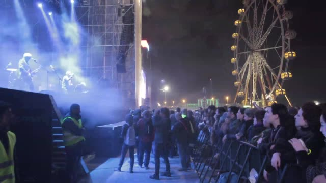 atmosphere around the concert of jesus and mary chain primavera sound festival in barcelona, spain on may 24, 2013. primavera sound festival in... - お祭り好き点の映像素材/bロール