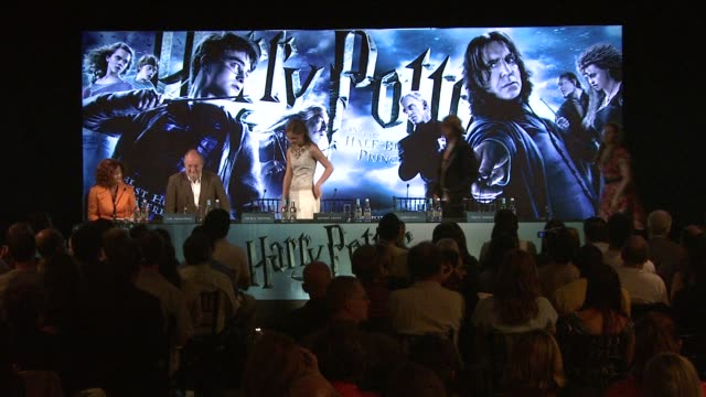 Atmosphere arrival Jim Broadbent Emma Watson Rupert Grint Jessie Cave David Barron at the Harry Potter and the HalfBlood Prince Press Conferences at...