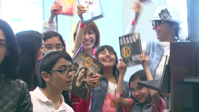 atmosphere at barnes noble celebrates the hunger games los angeles release on 3/22/12 in los angeles ca - barnes & noble stock videos and b-roll footage