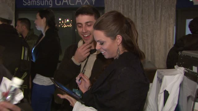 atmosphere at celebrities visit the samsung galaxy lounge day 1 on 1/18/13 in park city utah - 1日目点の映像素材/bロール