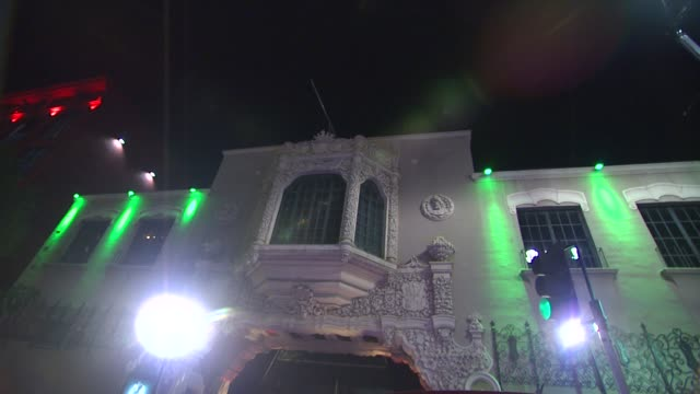 atmosphere at global green usa's 9th annual preoscar party on 2/21/12 in hollywood ca - oscar party stock-videos und b-roll-filmmaterial