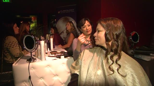 vídeos de stock, filmes e b-roll de atmosphere at global green usa's 9th annual preoscar party on 2/21/12 in hollywood ca - oscar party