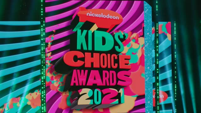 vídeos de stock e filmes b-roll de atmosphere at nickelodeon's kids' choice awards 2021 - arrivals on march 13, 2021. - nickelodeon