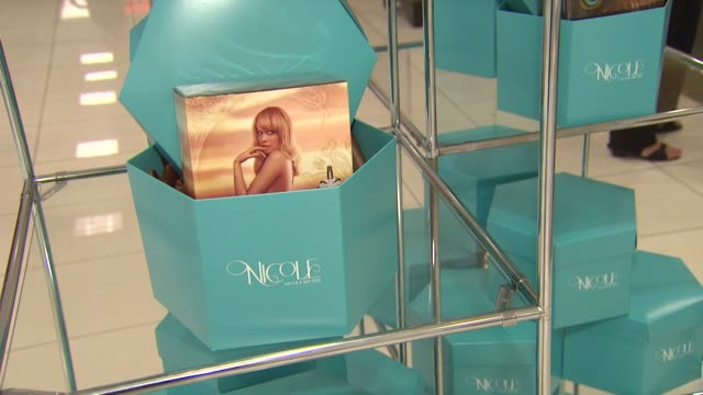 atmosphere at nicole richie first fragrance launch for nicole on 8/29/12 in los angeles, ca - nicole richie stock videos & royalty-free footage