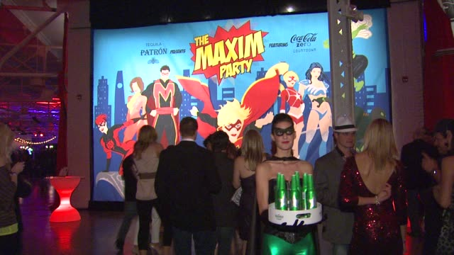 atmosphere at patron presents the maxim party featuring cocacola zero countdown with paul mitchell on 2/4/12 in indianapolis in - paul mitchell stock videos and b-roll footage