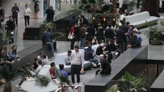 vídeos de stock, filmes e b-roll de atmosphere at station f world s biggest startup campus on march 5 2020 in paris france - classified ad