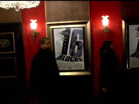 Atmosphere at the '16 Blocks' New York Premiere at the Ziegfeld Theatre in New York New York on February 27 2006