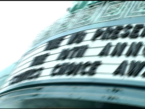 atmosphere at the 2005 critics' choice awards at the wiltern theater in los angeles california on january 10 2005 - wiltern theater stock videos and b-roll footage