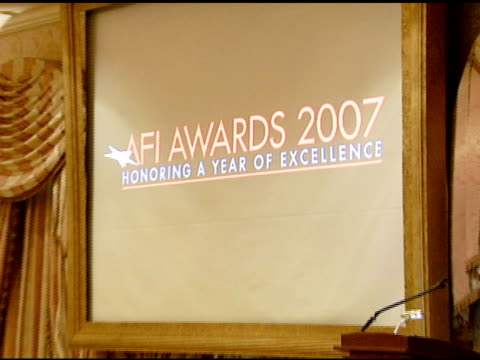 Atmosphere at the 2007 AFI Awards Honors Creative Teams at Four Seasons Hotel in Los Angeles Calfironia on January 11 2008