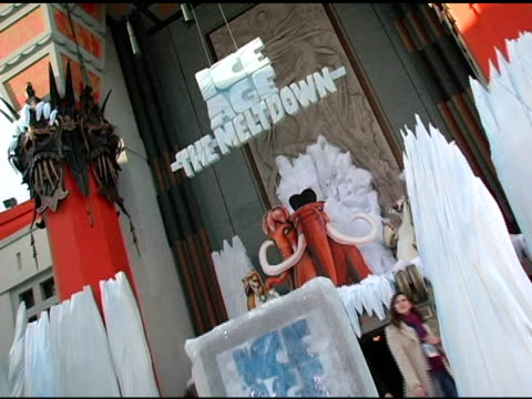 atmosphere at the 20th century fox's 'ice age: the meltdown' world premiere at grauman's chinese theatre in hollywood, california on march 19, 2006. - 20th century fox stock videos & royalty-free footage