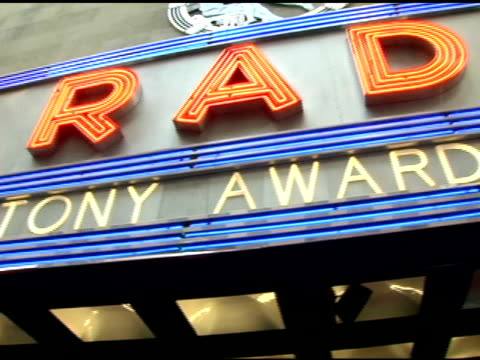 atmosphere at the 60th annual tony awards at radio city music hall in new york new york on june 11 2006 - radio city music hall stock videos & royalty-free footage