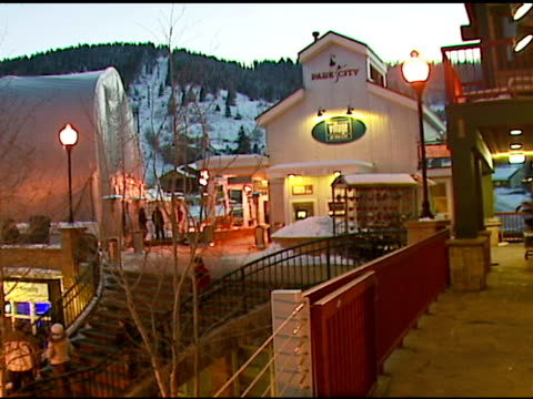 atmosphere at the aerie spa at the village at the lift in park city, utah on january 18, 2007. - park city stock videos & royalty-free footage