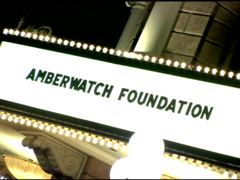 atmosphere at the amberwatch foundation unveiling of its new initiatives with a star studded launch party at the globe theater in universal city... - studded stock videos and b-roll footage