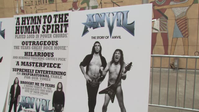 atmosphere at the 'anvil the story of anvil' premiere at los angeles ca - anvil the story of anvil stock videos and b-roll footage