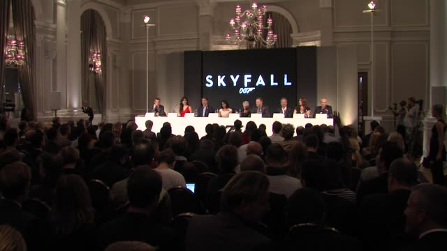 atmosphere at the bond 23 launch press conference skyfall at london england - skyfall stock videos and b-roll footage