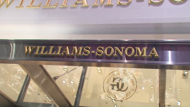 atmosphere at the book signing for 'martha stewart's homekeeping handbook' at williamssonoma store in new york new york on november 1 2006 - williams sonoma stock videos & royalty-free footage