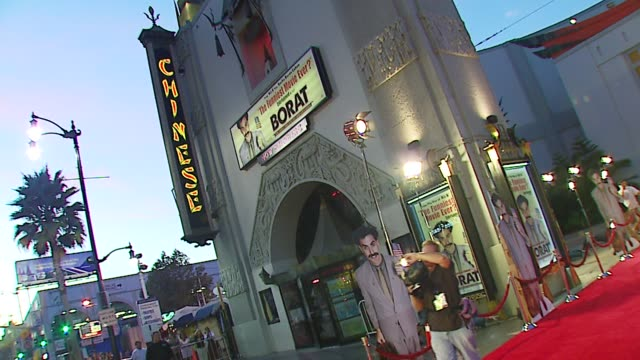 atmosphere at the 'borat cultural learnings of america for make benefit glorious nation of kazakhstan' world premiere at grauman's chinese theatre in... - borat stock-videos und b-roll-filmmaterial