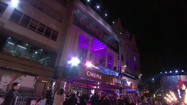 atmosphere at the burlesque uk premiere at london england. - burlesque stock videos & royalty-free footage