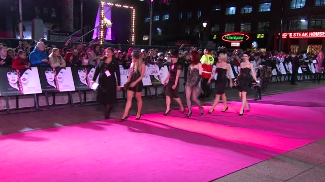 atmosphere at the burlesque uk premiere at london england - burlesque stock videos & royalty-free footage