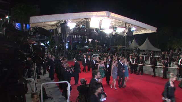 atmosphere at the cannes film festival 2009 the time that remains steps at cannes - 62 ° festival internazionale del cinema di cannes video stock e b–roll
