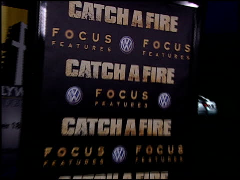 atmosphere at the catch a fire los angeles premiere at arclight cinemas in hollywood california on october 25 2006 - arclight cinemas hollywood stock videos and b-roll footage