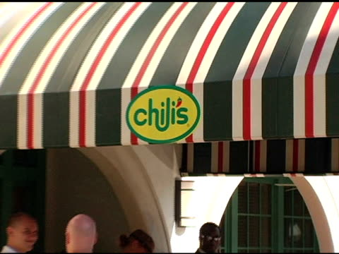 atmosphere at the chili's create a pepper to benefit st jude children's research hospital at chili's restaurant in westwood california on august 31... - chili's grill & bar stock videos and b-roll footage