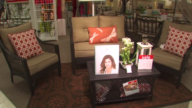 atmosphere at the cindy crawford, style my room contest - grand prize winner's shopping trip at northridge ca. - northridge stock videos & royalty-free footage