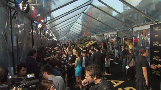 atmosphere at the 'clash of the titans' premiere at hollywood ca - clash of the titans stock videos & royalty-free footage