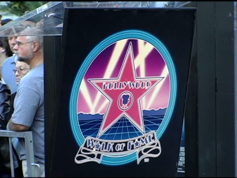 atmosphere at the dedication of robert zemeckis' star on the hollywood walk of fame at hollywood boulevard in hollywood california on november 5 2004 - robert zemeckis stock videos and b-roll footage
