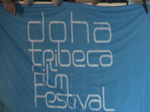 atmosphere at the doha tribeca film festival 2009 - day 1 highlights at doha . - day 1 stock videos & royalty-free footage