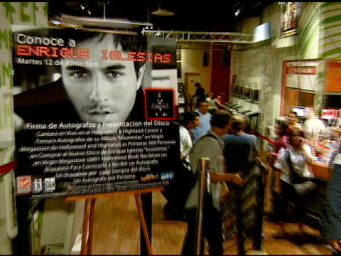 Atmosphere at the Enrique Iglesias Promotes Release of 'Insomniac' with Performance and Signing at Virgin Megastore in Hollywood California on June...