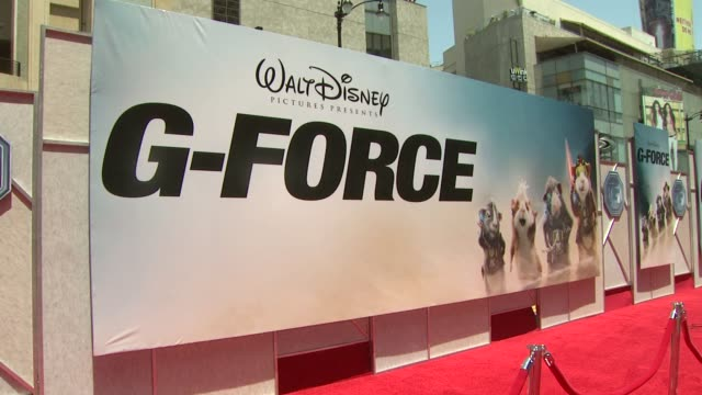 atmosphere at the 'g-force' premiere at hollywood ca. - g force stock videos & royalty-free footage
