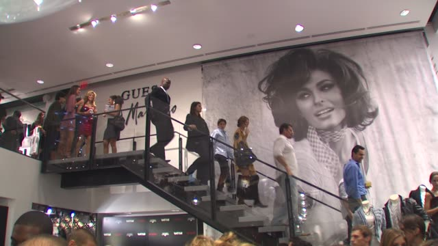 atmosphere at the guess vanity fair tshirt launch event to benefit invisible children at beverly hills ca - vanity fair stock videos and b-roll footage
