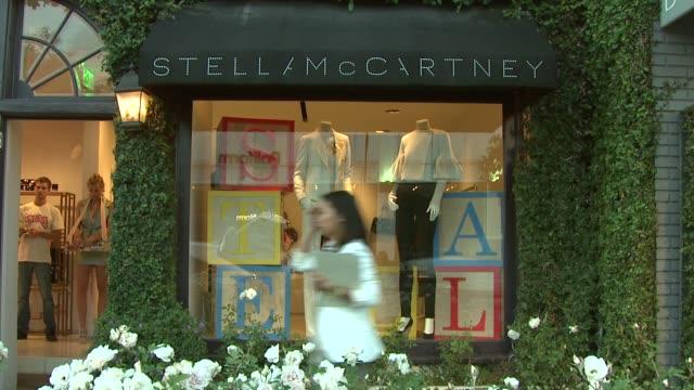 atmosphere at the 'home' screening at stella mccartney at los angeles ca. - ブランド ステラマッカートニー点の映像素材/bロール