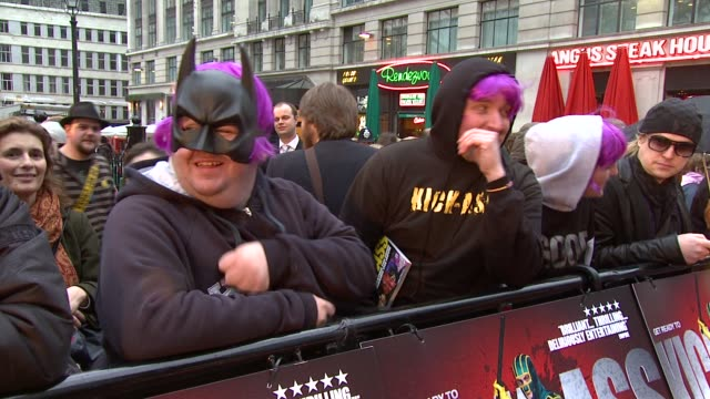 atmosphere at the kickass uk premiere at london england - kick ass film title stock videos & royalty-free footage