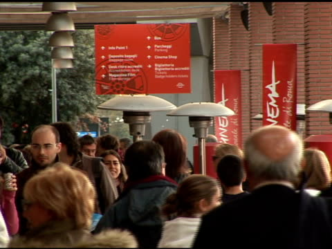 atmosphere at the 'lions for lambs' premiere at the second rome film festival at auditorium in rome on october 23, 2007. - rome film festival stock videos & royalty-free footage