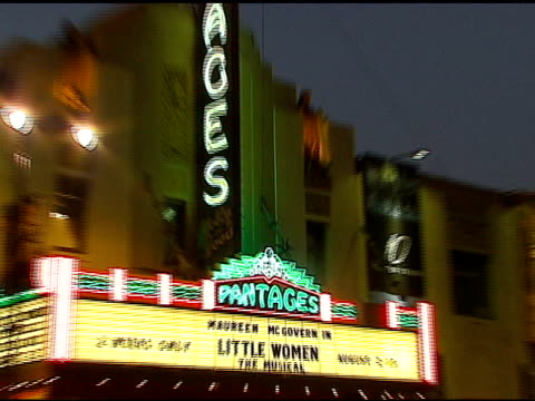 atmosphere at the los angeles opening of 'little women' at pantages theater in hollywood, california on august 2, 2006. - pantages theater stock videos & royalty-free footage