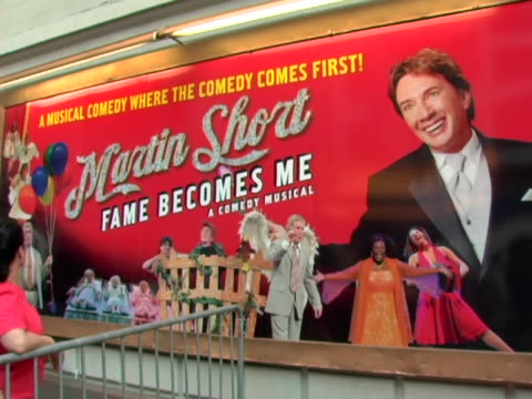 fame becomes me broadway premiere at the bernard b jacobs theatre in new york new york - martin short stock videos & royalty-free footage