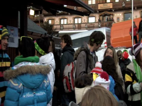 atmosphere at the meribel little world festival at meribel - meribel stock videos & royalty-free footage