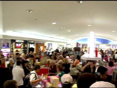 atmosphere at the paris hilton autograph session at macy's herald square in new york new york on june 16 2006 - macy's herald square stock videos and b-roll footage