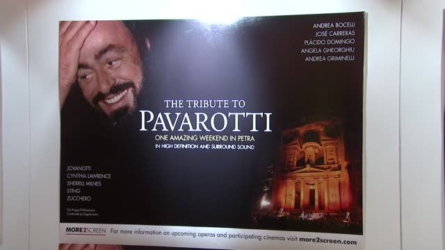 atmosphere at the pavarotti tribute one amazing weekend in petra interview at london - luciano pavarotti stock videos & royalty-free footage