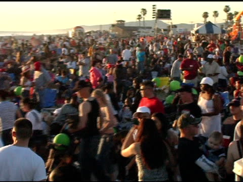 atmosphere at the rockin' the corp an american thank you celebration concert for us marines at camp pendelton marine base in oceanside california on... - oceanside stock videos and b-roll footage