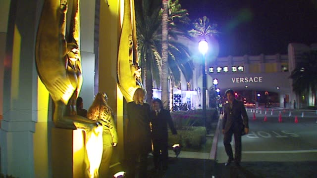 atmosphere at the rodeo walk of style award presentation to gianni and donatella versace at beverly hills city hall in beverly hills, california on... - versace designer label stock videos & royalty-free footage