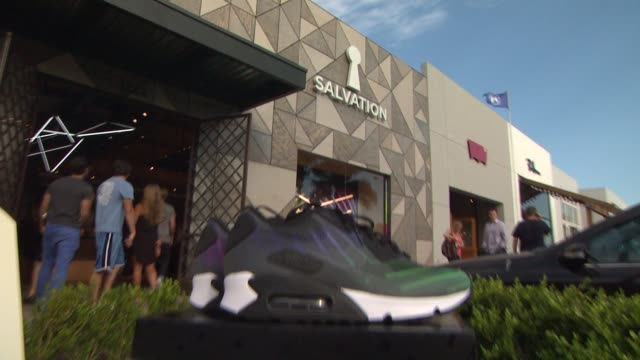 atmosphere at the salvation malibu store opening featuring hurley phantom 4d capsule collection unveiling at malibu ca. - malibu stock videos & royalty-free footage