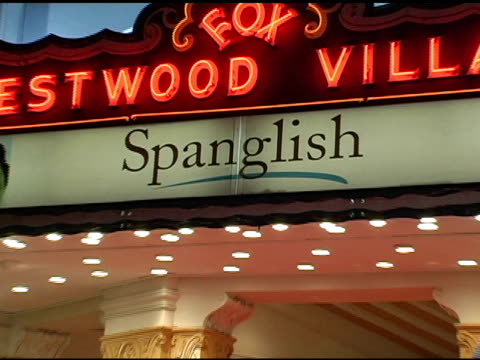 atmosphere at the 'spanglish' premiere at the mann village theatre in westwood california on december 9 2004 - spanglish stock videos & royalty-free footage