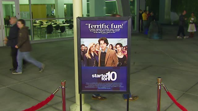 vídeos de stock, filmes e b-roll de atmosphere at the 'starter for 10' los angeles premiere at arclight cinemas in hollywood california on february 6 2007 - arclight cinemas hollywood