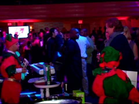 atmosphere at the stuff magazine 'toys for bigger boys' charity party at the hammerstein ballroom in new york new york on december 5 2006 - hammerstein ballroom bildbanksvideor och videomaterial från bakom kulisserna