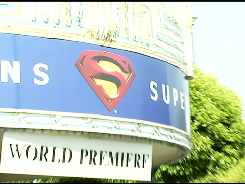 atmosphere at the 'superman returns' premiere at the mann village theatre in westwood california on june 21 2006 - regency village theater stock videos & royalty-free footage