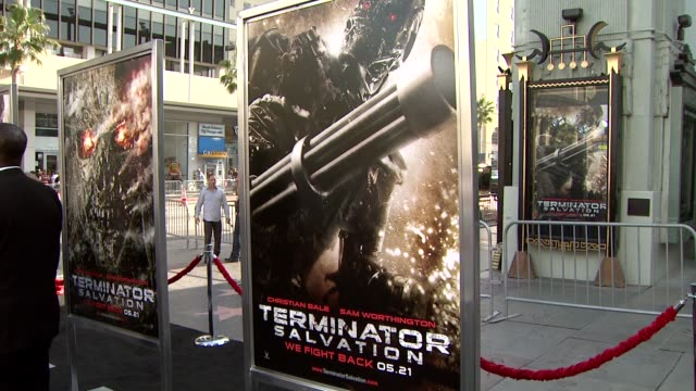 atmosphere at the 'terminator salvation' premiere at hollywood ca. - terminator stock videos & royalty-free footage