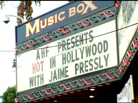 vidéos et rushes de atmosphere at the the aids healthcare foundation presentation of 'hot in hollywood' at the henry fonda/music box theatre in hollywood, california on... - henry fonda theatre